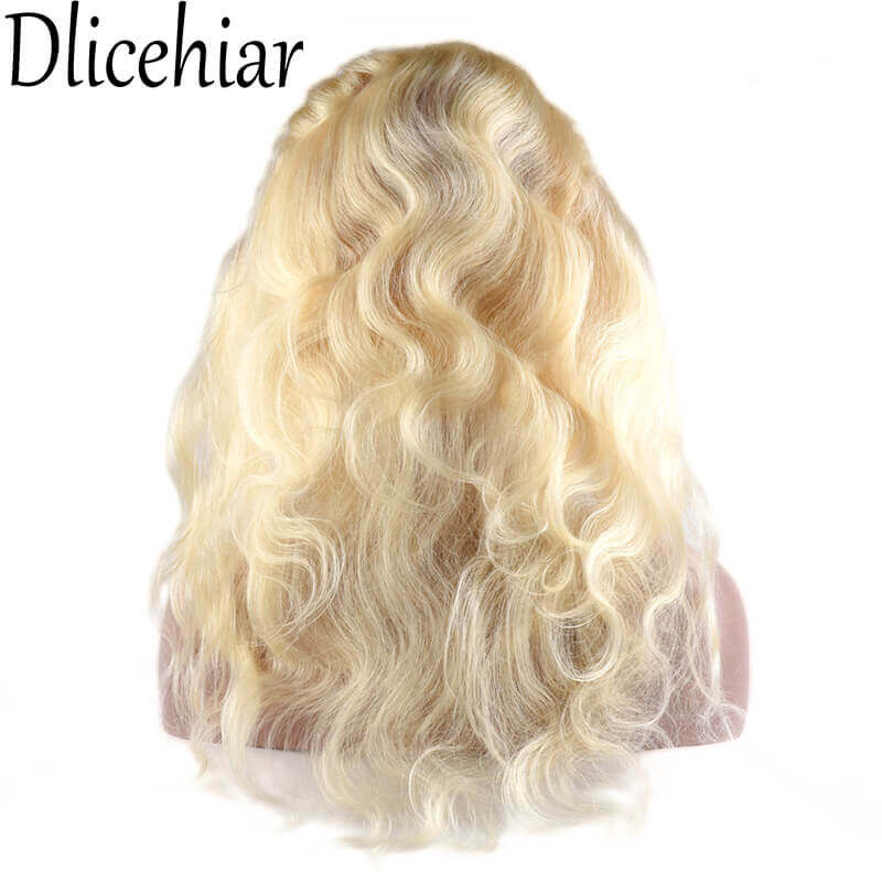 [10A 3+1] 100% human hair #613 Brazilian Body Wave Blonde bundles with frontal Closure 4