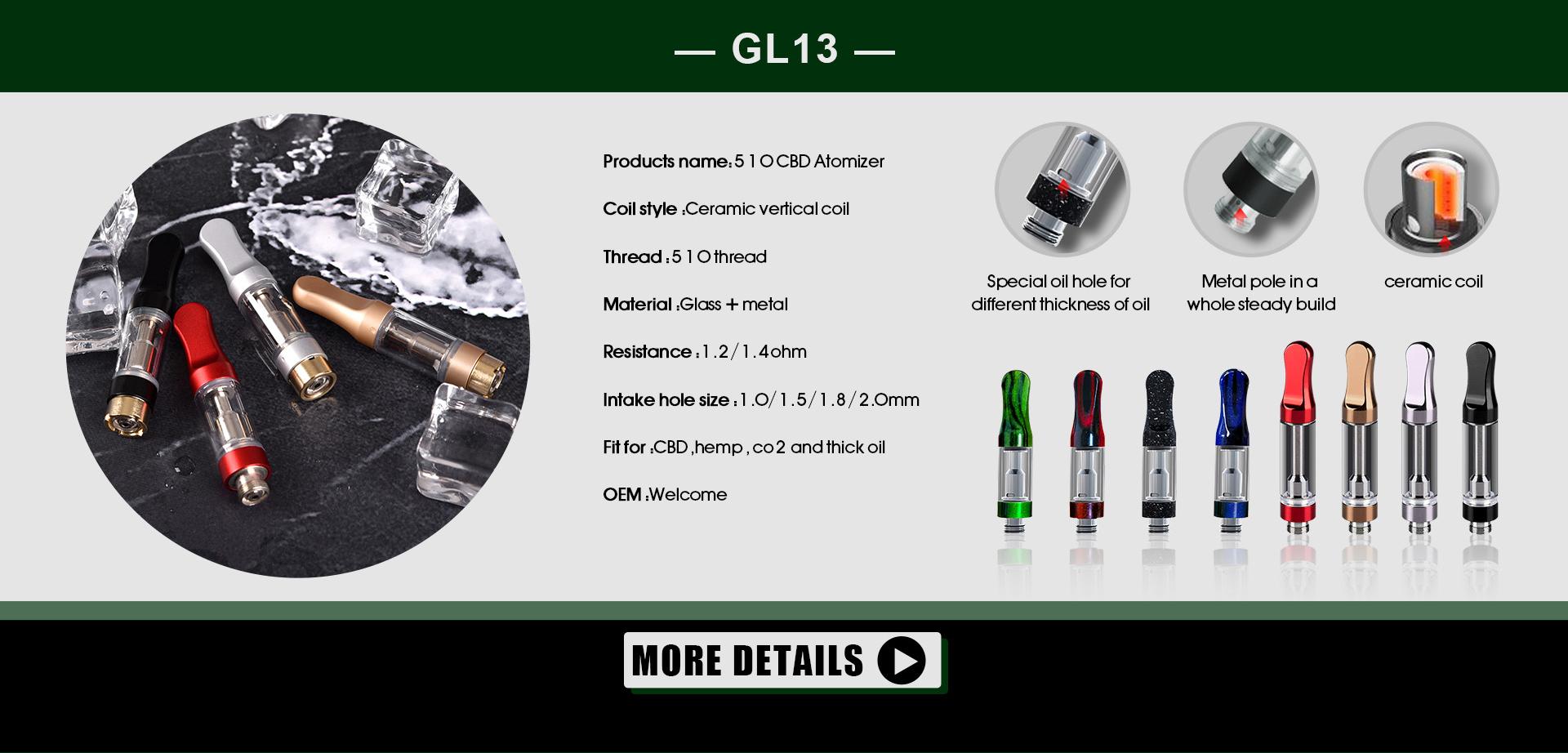 CBD Cartridges GL13
