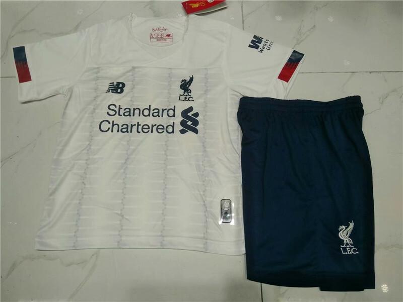 2019 2020 Liverpool M.salah AWAY kids kit soccer jerseys 19/20 boy KEITA LALLANA FIRMINO SHAQIRI Children football shirts