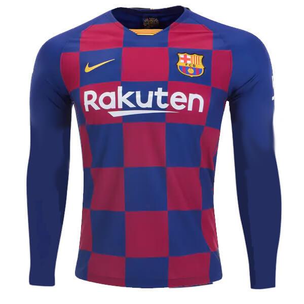 BARCELONA HOME LONG SLEEVE soccer jersey 2019/2020