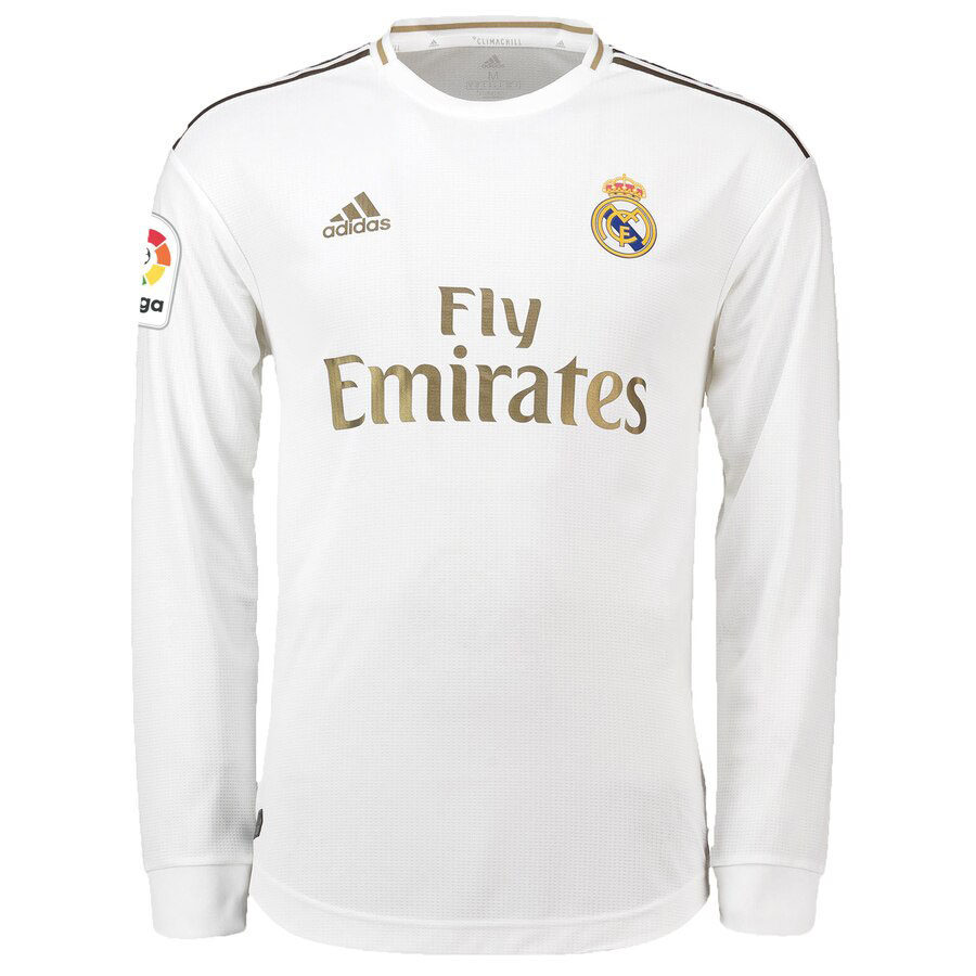 REAL MADRID HOME LONG SLEEVE soccer jersey 2019/2020