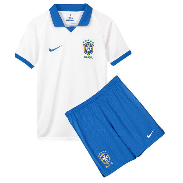 BRAZIL 100TH ANNIVERSARY SPECIAL-EDITION AWAY KIDS FOOTBALL KIT soccer Jersey 2019/2020