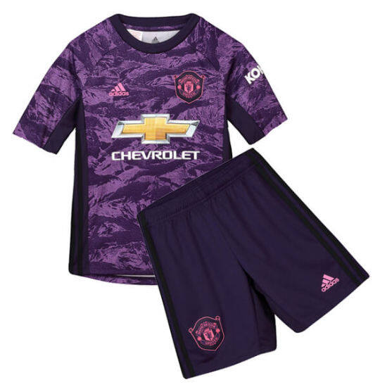 new products 924d9 2f914 MANCHESTER UNITED HOME GOALKEEPER KIDS FOOTBALL KIT SOCCER JERSEY 2019/2020
