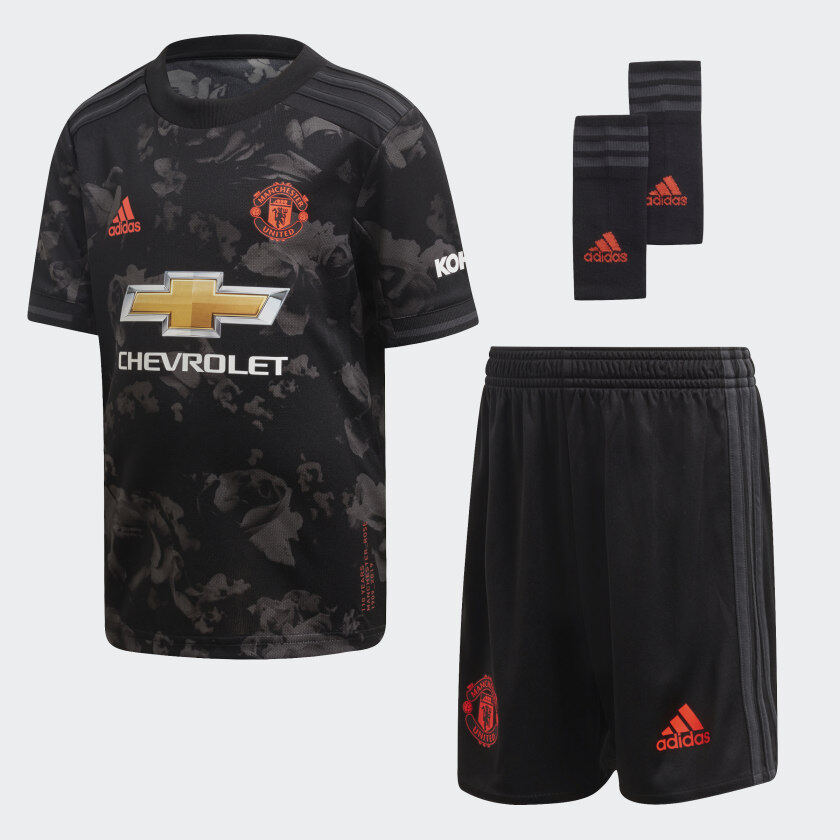 MANCHESTER UNITED THIRD KIDS FOOTBALL KIT SOCCER JERSEY 2019/2020