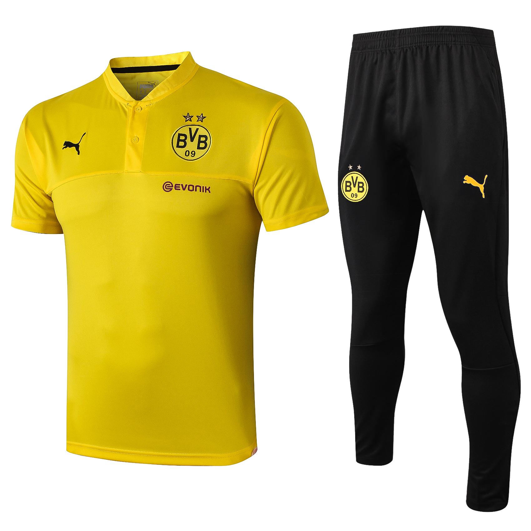 Bvb Borussia Dortmund Adult Yellow Pre Match Shirt 2019 20