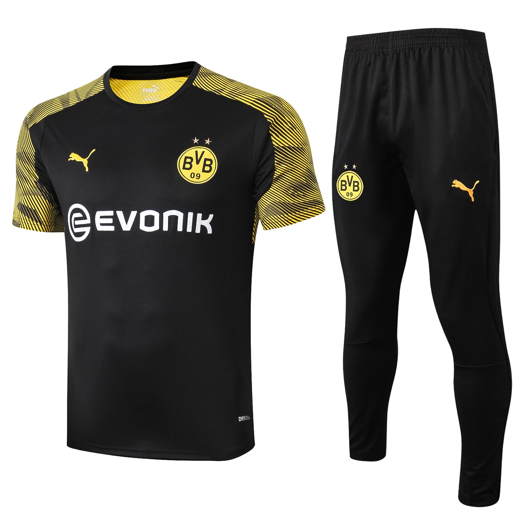 Bvb Borussia Dortmund Adult Black Pre Match Shirt 2019 20