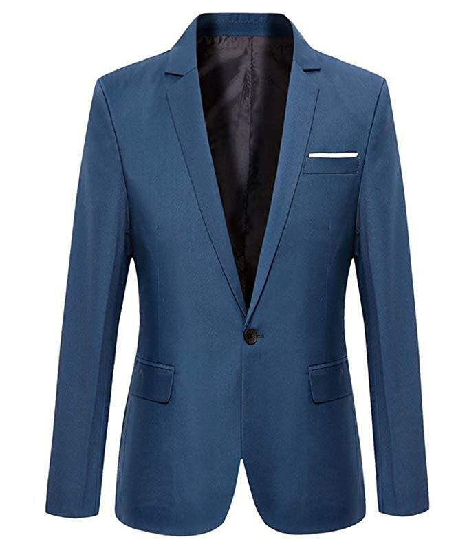 Mens Slim Fit Casual One Button Blazer Jacket Men Suits 0