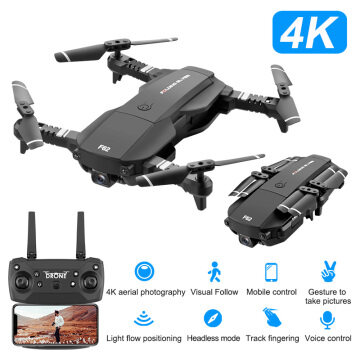F62 2.4G WIFI 4K HD wide angle camera RC drone optical flow gesture control smart follow quadcopter rc drone
