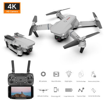 E88 drone 4k HD dual camera visual positioning 1080P WiFi fpv drone height preservation rc quadcopter atopcart