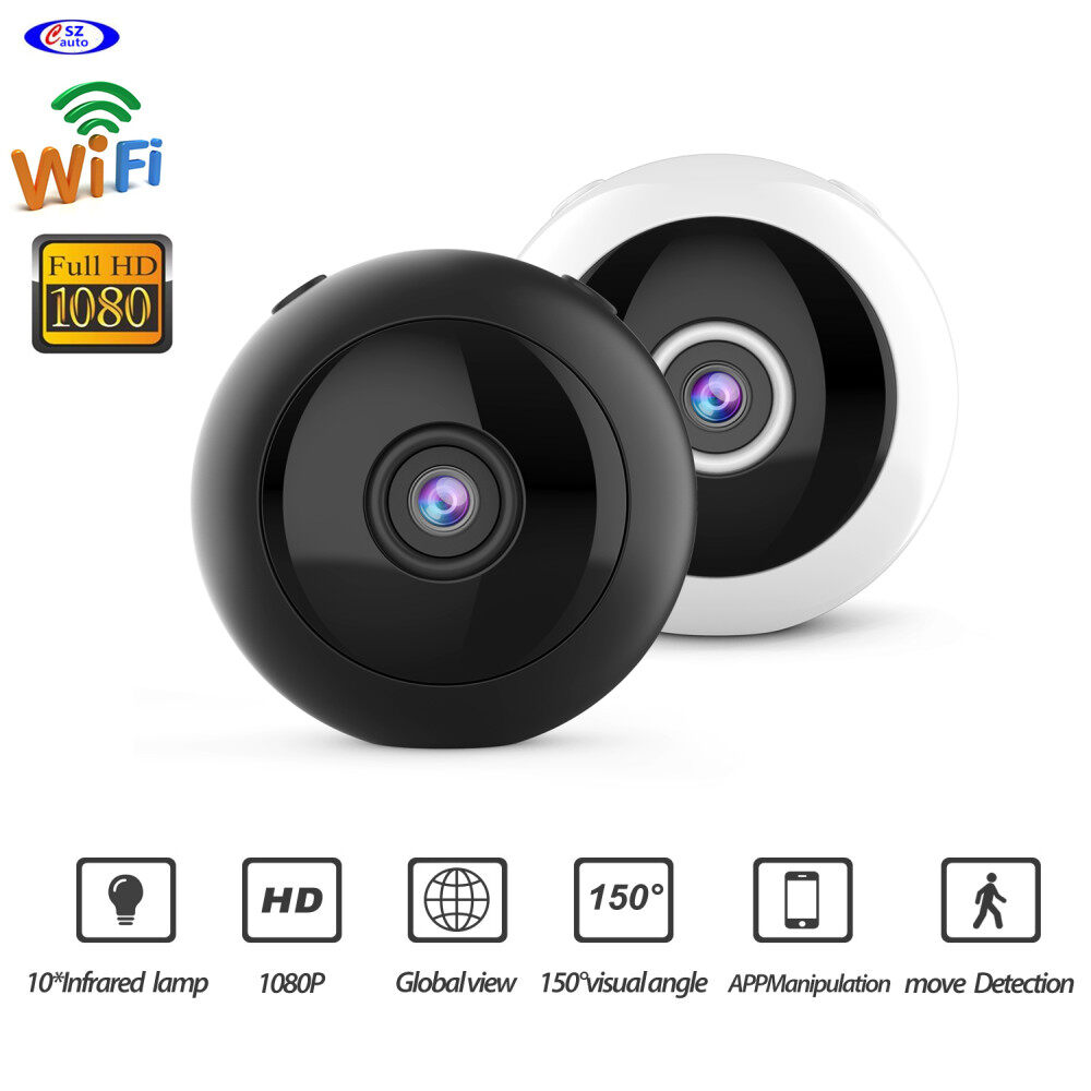 W8 Mini Wifi Camera Hd 1080p Magnet Bracket 150 Degree Wide Angle Night-Vis E3T6 1
