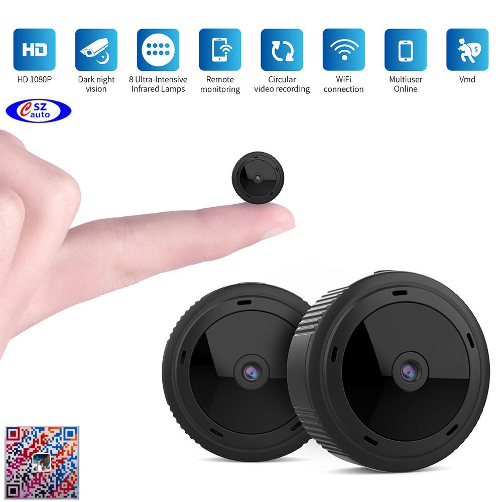 free shipping W10 Mini Wifi Camera Hd 1080p Magnet Bracket 150 Degree Wide Angle Night-Vis E3T6 0