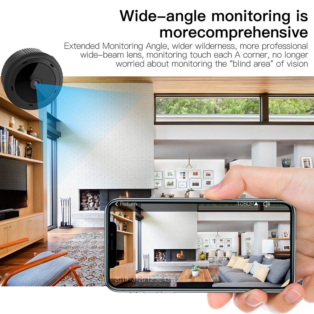 free shipping W10 Mini Wifi Camera Hd 1080p Magnet Bracket 150 Degree Wide Angle Night-Vis E3T6 4