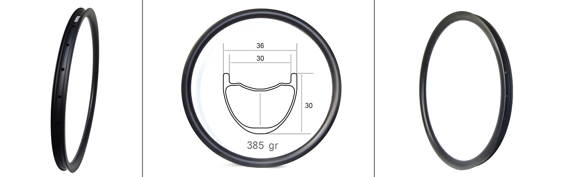 36mm wide 29er carbon mountain bicycle rims