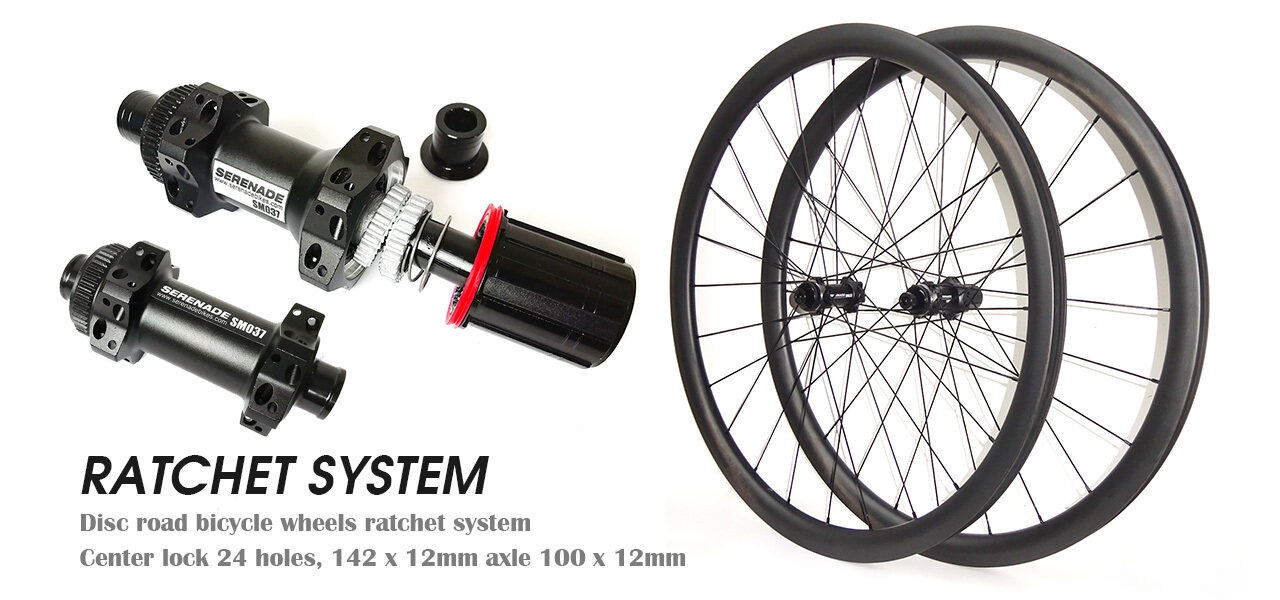 Ratchet system road bicycle wheels