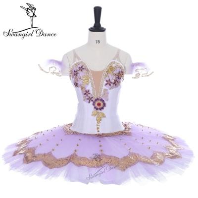 630b950974fd Lilac purple white Don Quixote classical ballet pancake tutu girls' Romonda platter  professional tutus BT9138