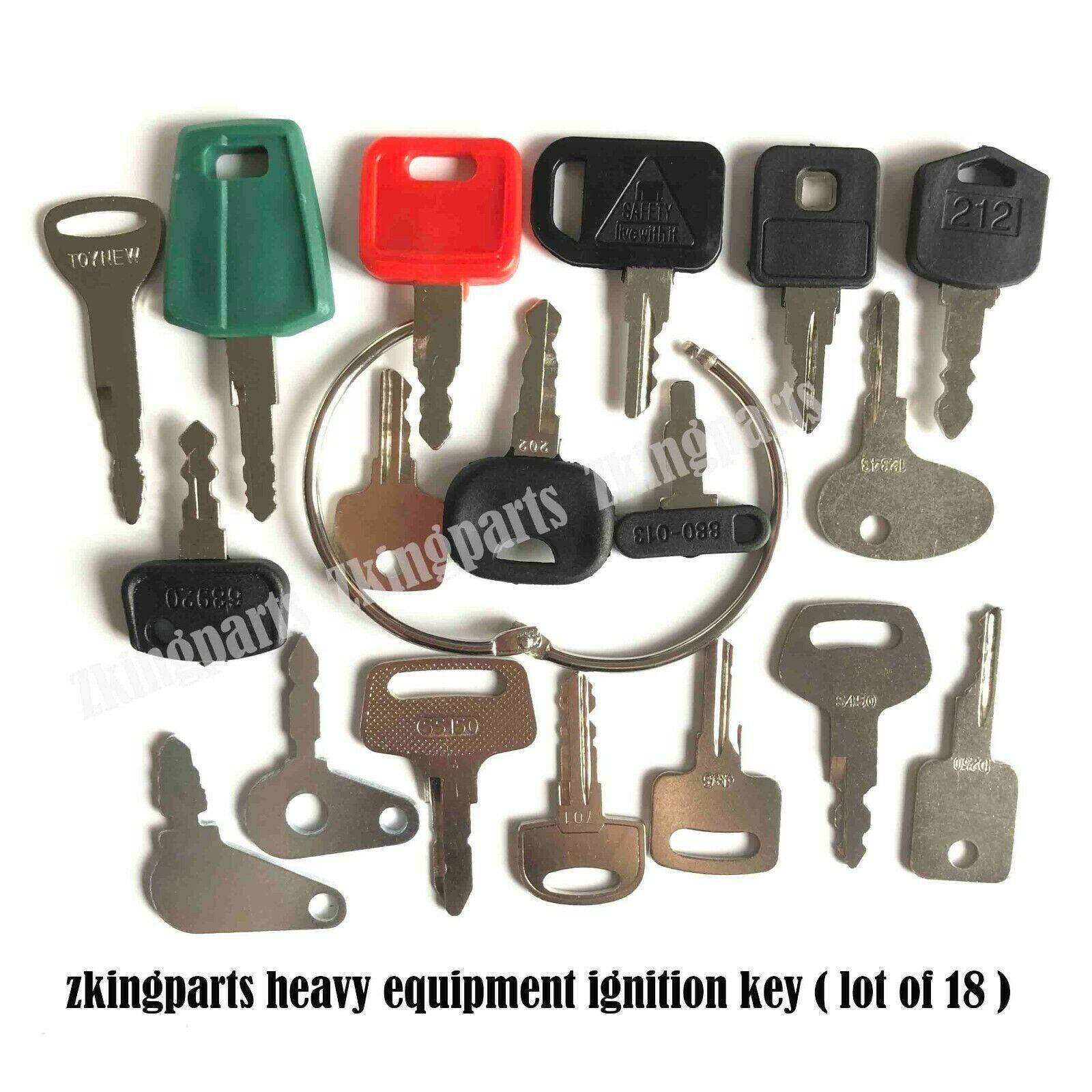 5 FITS  Volvo F series Wheel Loader Heavy Equipment Ignition Keys C001 11444208