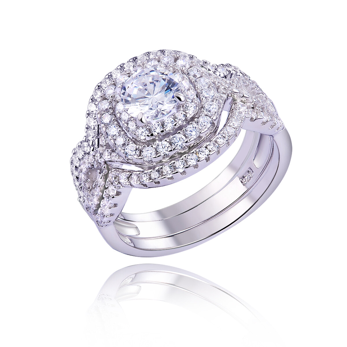 Newshe Engagement Rings Wedding Sets For Women 925