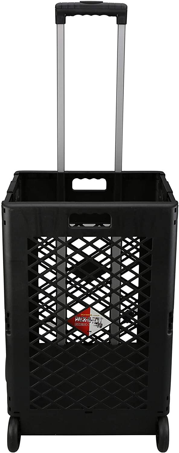 Mesh Rolling Utility Cart Folding And Collapsible Hand