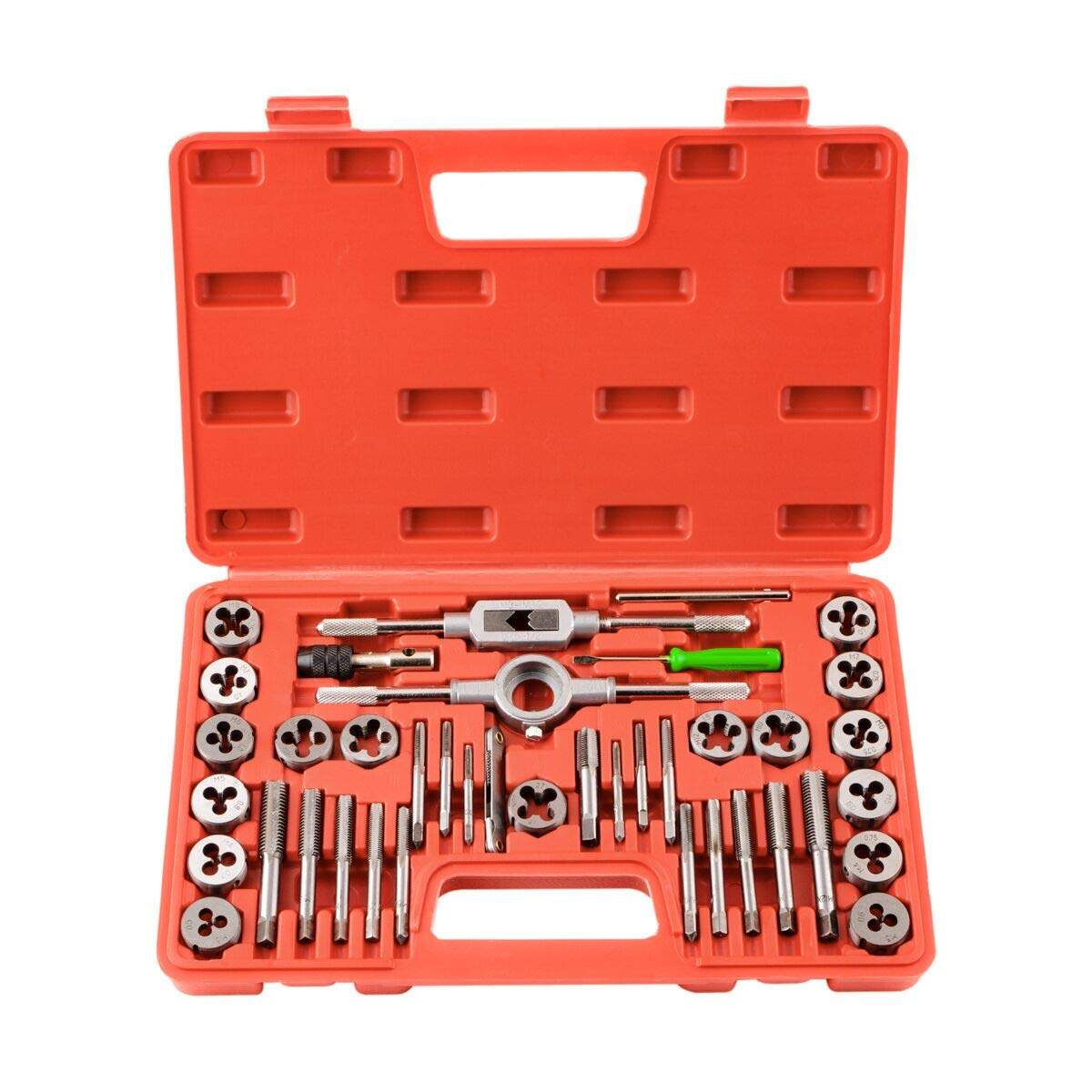 9 Pieces//set Tap Drill and Die Set Strength M3-6 T-Type Hand Alloy Steel Tools