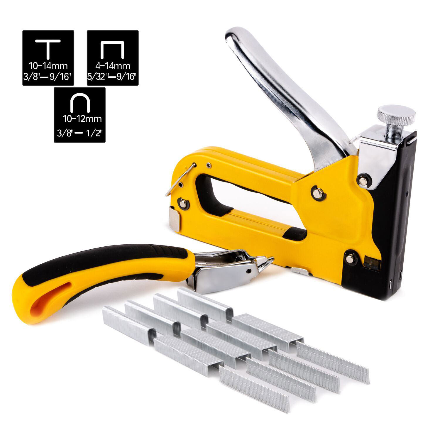 3 IN 1 HEAVY DUTY STEEL STAPLE GUN TACKER UPHOLSTERY STAPLER