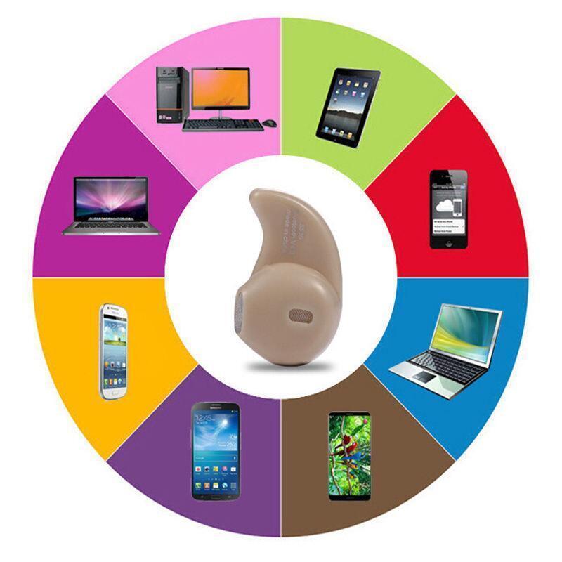 Mini Wireless Bluetooth 4.0 Stereo In-Ear Headset Earphone For Samsung iphone 5