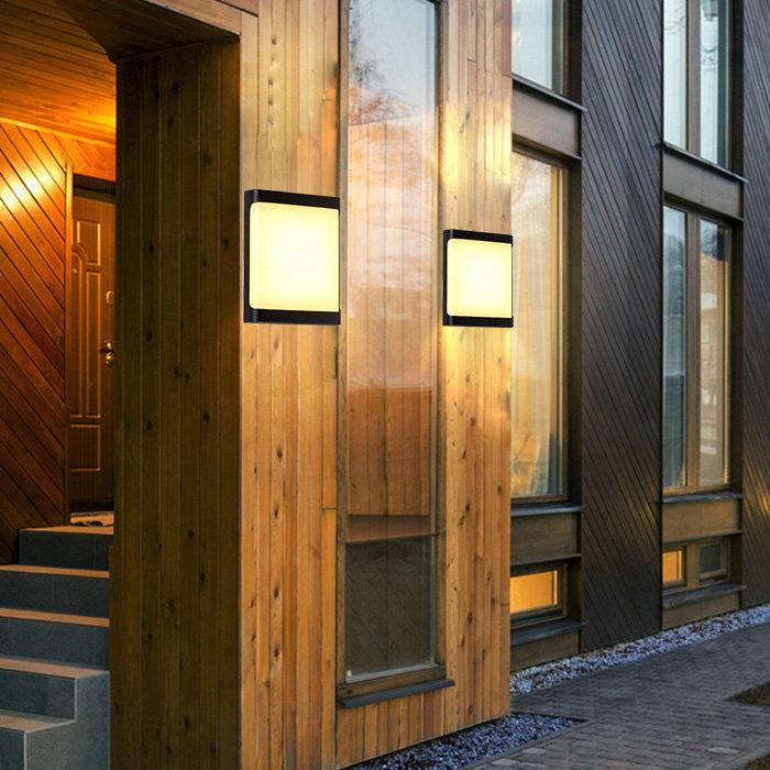 18w Waterproof Building Exterior Lamp Black