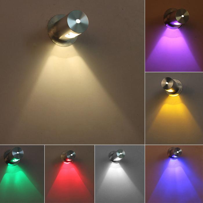 3W LED wall sconces light cube box lamp fixture Aluminium lighting Disco Hotel