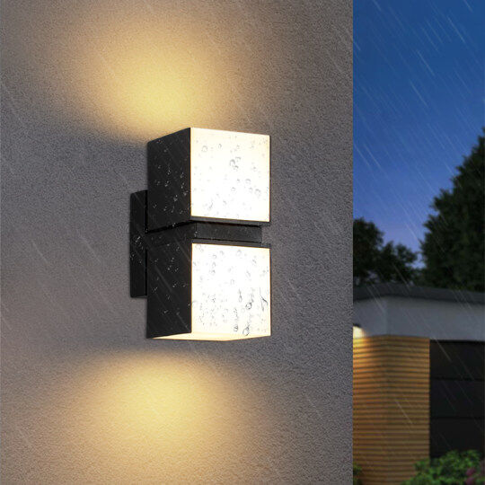 LUMINTURS 7W LED Outdoor Waterproof Wall Sconces Steps Light E27 Lamp Bul.