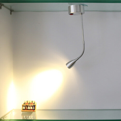 Flexible pipe Light 3W LED Wall Sconce Lamp Fixture Picture Spotlight Showcase