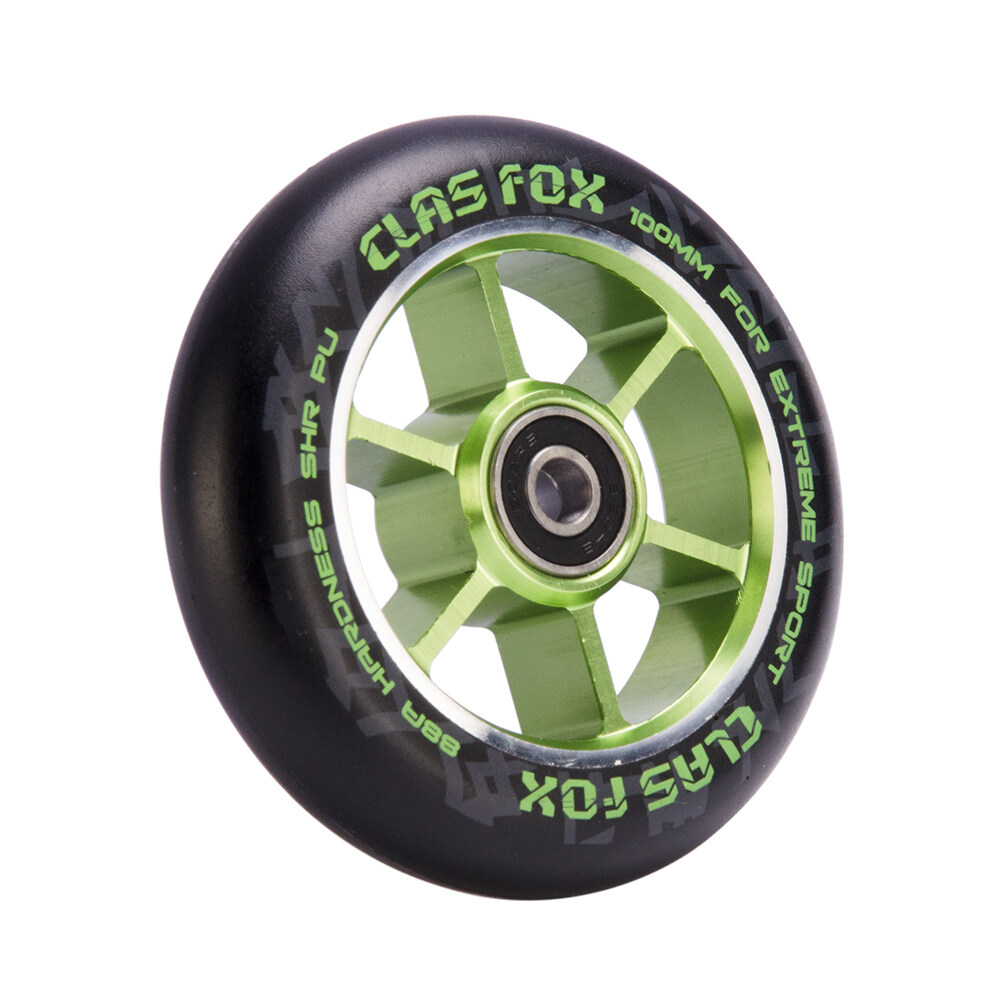 CLAS FOX 5 Stars 110mm One Pair Pro Stunt Scooter Wheels with ABEC-9 Bearings CNC Metal Core 2pcs