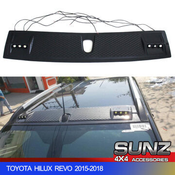 Matte black FRONT ROOF COVER WITH LED FOR TOYOTA HILUX REVO 2015-2018