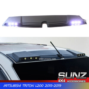 2015-2019 FRONT ROOF SPOILER MATTE BLACK WITH LED FOR Mitsubishi triton l200 2018