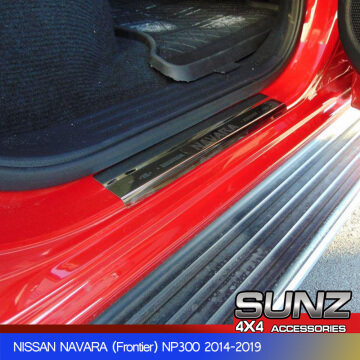 stainless sheet door sill for nissan np300