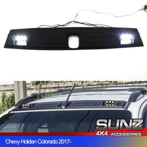 FRONT ROOF SPOILER MATTE BLACK WITH LED for Chevrolet Holden Colorado Z71 S10 4WD 2017 2018 2019