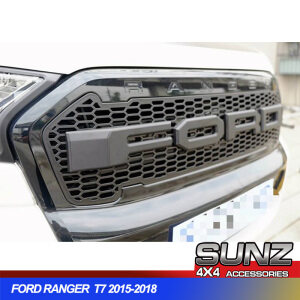 FRONT GRILL with Lighting FOR PX2 FORD RANGER T7 - BLACK (2015 - 2017)