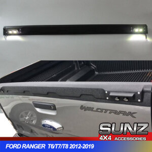 REAR GUARD WITH LED TUXTURE BLACK FOR FORD RANGER PX/PX2/PX3/T6/T7/T8 2012-2019