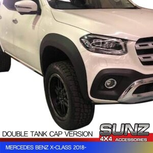 SMOOTH WHEEL ARCH OEM FENDER FLARE FOR MERCEDES BENZ X-CLASS 2018- DOUBLE CONBIN SINGLE/Double TANK CAP
