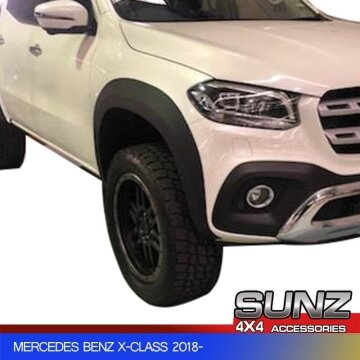 SMOOTH WHEEL ARCH OEM FENDER FLARE FOR MERCEDES BENZ X-CLASS 2018- SINLE TANK VERSION