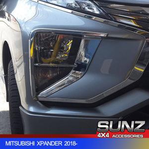Chrome finished Xpander HEAD LIGHT COVER for Mitsubishi Xpander 2019 MPV