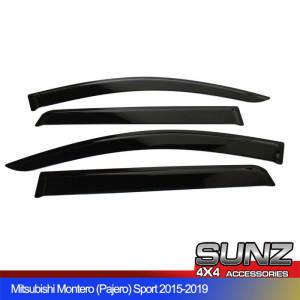 Pajero Injection door visor window deflector for Mitsubishi Montero sport 2015-2019