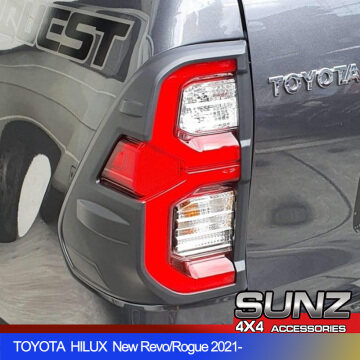 0449BK Tail light cover for TOYOTA HILUX 2021 new Revo Rogue accessories