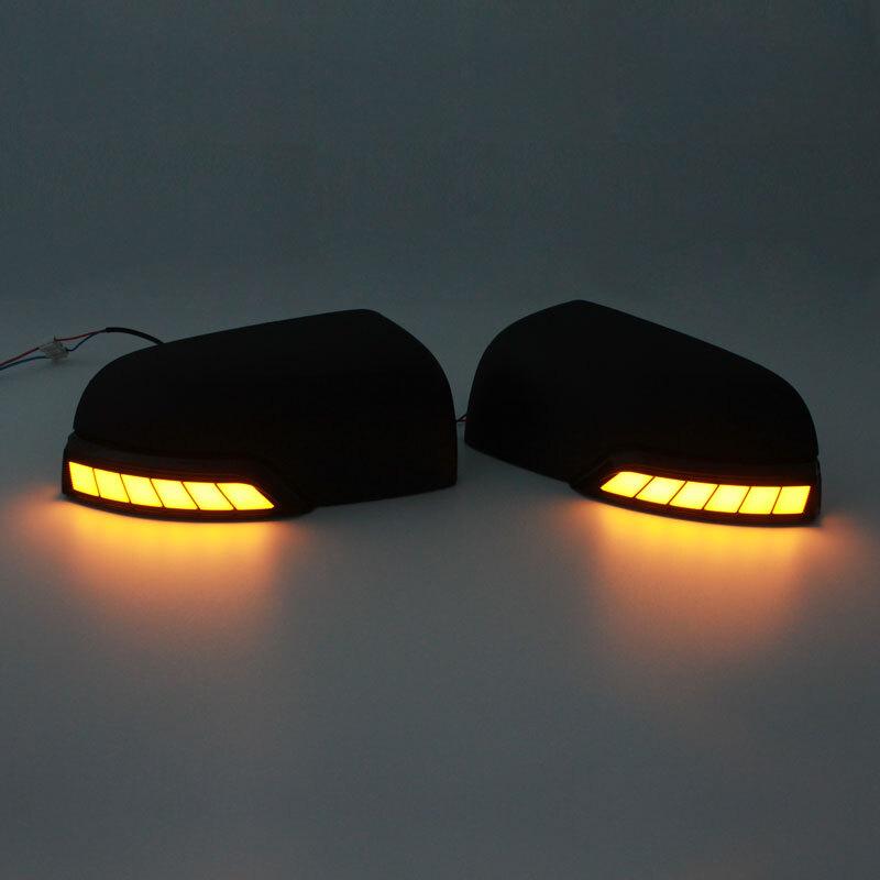 Running LED lights Mirror Covers For Ford Ranger T7 2012-2019 2020 T6 T7 T8 Wildtrak