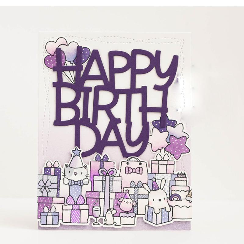 Birthday Party Card Metal Cutting Dies For Scrapbooking Stencils DIY Album ME