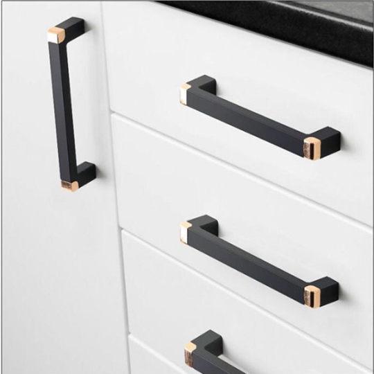 Black Furniture Cabinet Knobs Handles Kitchen Handles Drawer Knobs Cabinet Pulls