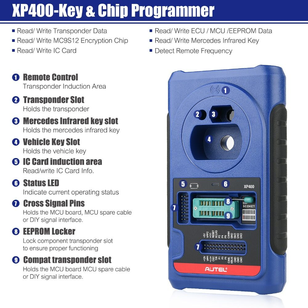 Autel IM608 XP400 Key Programmer Car Diagnostic MaxiFlash ECU Programmer All Systems Diagnostic  Original Autel MaxiIM IM608 ADVANCED IMMO & KEY PROGRAMMING Free Shipping im608,autel maxiim,autel im608,autel programming,original autel scan