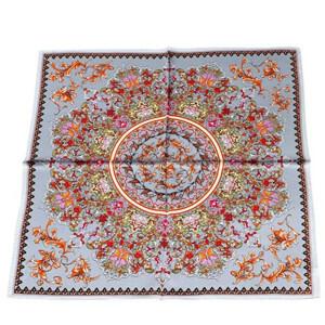 100% Silk Scarf Neckerchief Small Square Print Scarves Women
