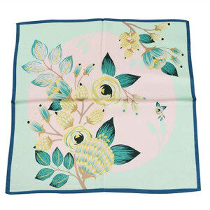 100% Silk delicate Scarf Neckerchief Small Square Print Scarves Women