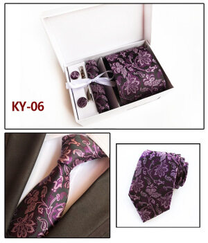 Chinese Bold Flower Jacquard Polyester Tie