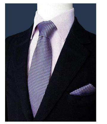 100% Printed Silk Necktie Set for Men Handmade Tie Fashion Tie