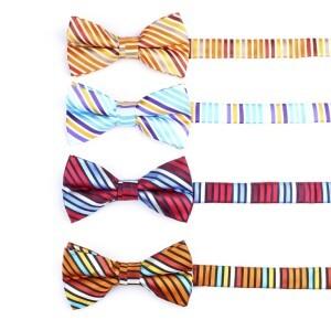 Fashion New design polyester Stripe Bow Tie